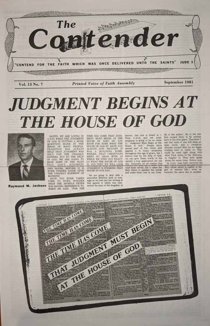 Judgement Begins at the House of God